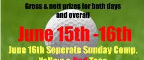 CLUB CHAMPIONSHIP 15-16TH JUNE